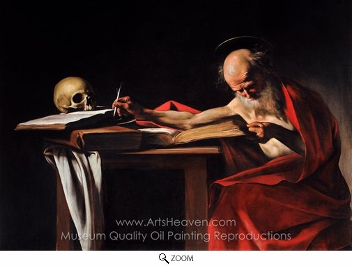 Caravaggio, Saint Gerome Writing oil painting reproduction