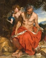 Saint Jerome painting reproduction, Sir Anthony Van Dyck