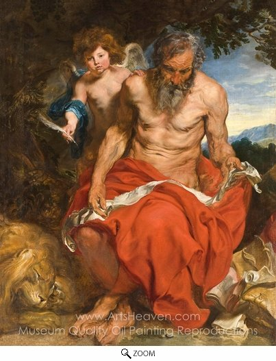 Sir Anthony Van Dyck, Saint Jerome oil painting reproduction