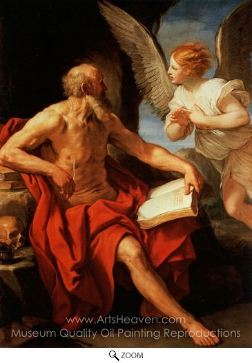 Guido Reni, Saint Jerome and the Angel oil painting reproduction