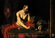 Saint Jerome in His Study painting reproduction, Caravaggio