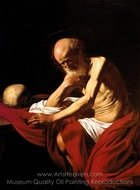 Saint Jerome Penitent painting reproduction, Caravaggio