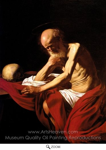 Caravaggio, Saint Jerome Penitent oil painting reproduction