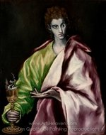 Saint John the Evangelist painting reproduction, El Greco