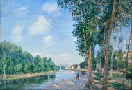 Saint-Mammes, June Sunshine painting reproduction, Alfred Sisley