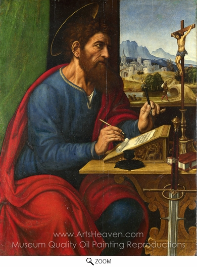 Pier Francesco Sacchi, Saint Paul Writing oil painting reproduction