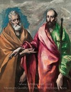 Saint Peter and Saint Paul painting reproduction, El Greco