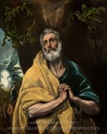 Saint Peter in Tears painting reproduction, El Greco