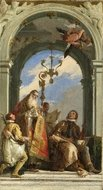 Saints Maximus and Oswald painting reproduction, Giovanni Battista Tiepolo