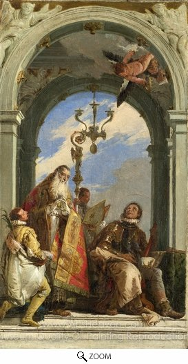 Giovanni Battista Tiepolo, Saints Maximus and Oswald oil painting reproduction