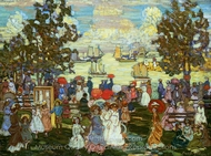Salem Willows painting reproduction, Maurice Prendergast