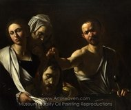 Salome Receives the Head of Saint John the Baptist painting reproduction, Caravaggio