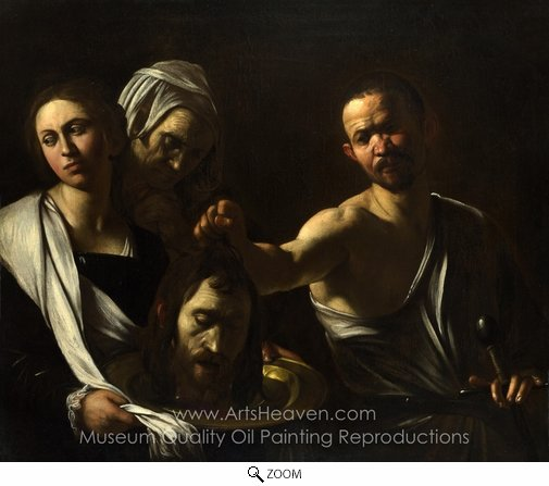 Caravaggio, Salome Receives the Head of Saint John the Baptist oil painting reproduction