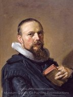 Samuel Ampzing painting reproduction, Frans Hals