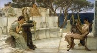 Sappho and Alcaeus painting reproduction, Sir Lawrence Alma-Tadema