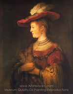 Saskia painting reproduction, Rembrandt Van Rijn
