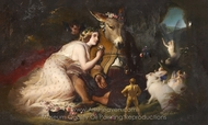 Scene from a Midsummer Night's Dream painting reproduction, Sir Edwin Landseer
