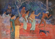 Scene From Tahitian Life painting reproduction, Paul Gauguin