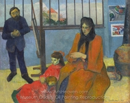 Schuffenecker's Studio painting reproduction, Paul Gauguin