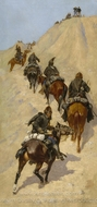 Scouts Climbing a Mountain painting reproduction, Frederic Remington