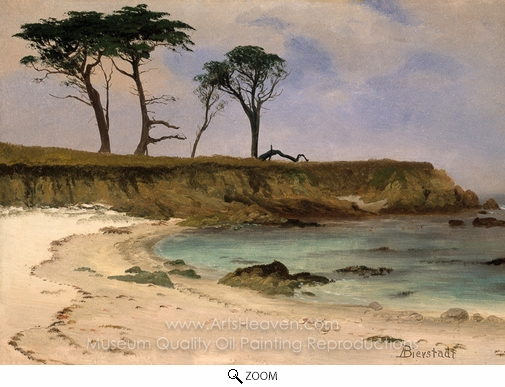Albert Bierstadt, Sea Cove oil painting reproduction