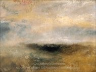 Seascape with Storm Coming On painting reproduction, Joseph M. W. Turner
