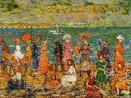 Seashore painting reproduction, Maurice Prendergast