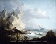 Seashore with Fishermen painting reproduction, Thomas Gainsborough