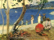 Seaside II painting reproduction, Paul Gauguin