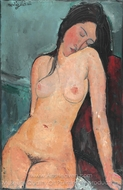 Seated Nude painting reproduction, Amedeo Modigliani