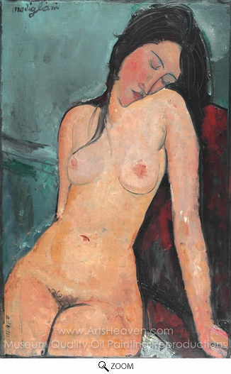 Amedeo Modigliani, Seated Nude oil painting reproduction