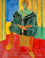 Seated Riffian (Le Rifain Assis) painting reproduction, Henri Matisse