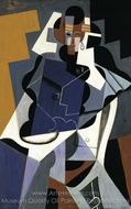 Seated Woman painting reproduction, Juan Gris