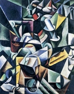 Seated Woman painting reproduction, Liubov Popova