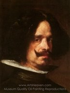 Self-Portrait 1640 painting reproduction, Diego Velazquez