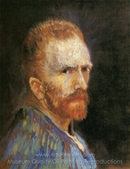 Self-Portrait 1887 painting reproduction, Vincent Van Gogh