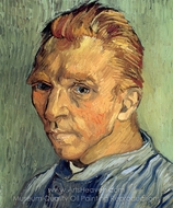 Self-Portrait 1889 painting reproduction, Vincent Van Gogh