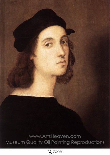 Raphael Sanzio, Self-Portrait oil painting reproduction