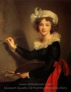 Self-Portrait painting reproduction, Louise Elisabeth Vigee-Lebrun
