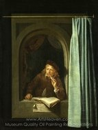 Self-Portrait painting reproduction, Gerrit Dou