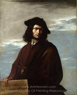 Self-Portrait painting reproduction, Salvator Rosa