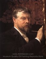 Self-Portrait painting reproduction, Sir Lawrence Alma-Tadema