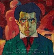 Self Portrait painting reproduction, Kasimir Malevich