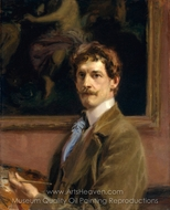 Self-Portrait painting reproduction, Frederick William MacMonnies
