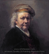Self-Portrait painting reproduction, Rembrandt Van Rijn