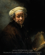 Self-Portrait as the Apostle St. Paul painting reproduction, Rembrandt Van Rijn