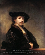 Self-Portrait at 34 painting reproduction, Rembrandt Van Rijn