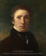 Self-Portrait at the Age of about Nineteen painting reproduction, Sir William Boxall