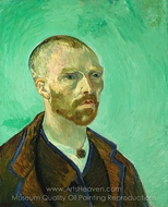 Self-Portrait (dedicated to Paul Gauguin) painting reproduction, Vincent Van Gogh