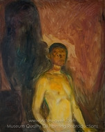 Self Portrait in Hell painting reproduction, Edvard Munch